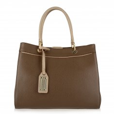 Avorio Nero - Mud Leather Shopper