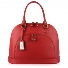 Avorio Nero - Large shoulder red leather bag