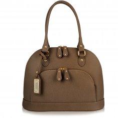 Avorio Nero - Large shoulder mud leather bag